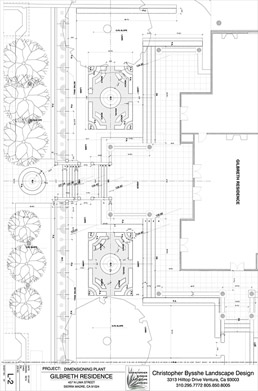 a landscape site plan for a project near Pasadena